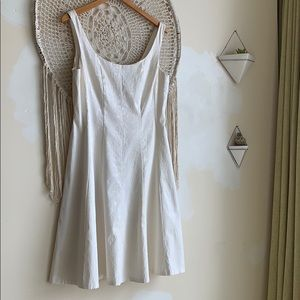 Connected apparel white snake skin fit&flare dress